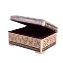 جعبه خاتم کاری 8×11 سانتیمتری با درب لولایی