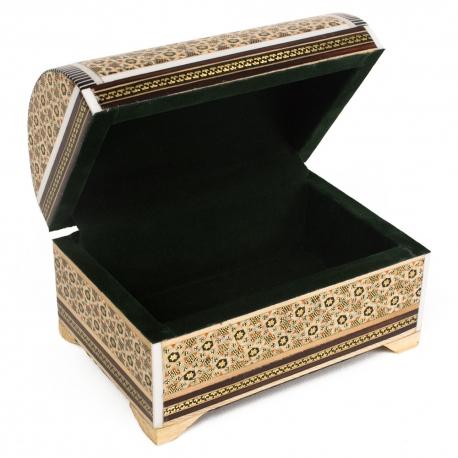 صندوقچه جواهرات خاتم کاری 9 سانتیمتری