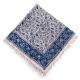 رومیزی قلمکار مربعی طرح آبی بادامی