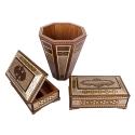 سطل و جعبه دستمال کاغذی و جاکاردی ست جهیزیه خاتم کاری صنایع دستی