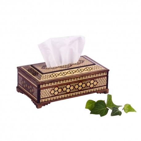 خرید جعبه دستمال کاغذی چوبی