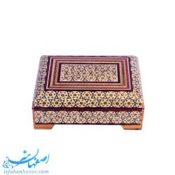 جعبه چوبی طلا و جواهر داخل مخمل 14 سانتیمتری