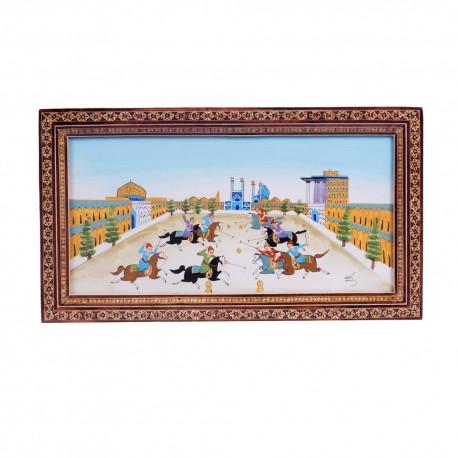 تابلوی نقاشی بازی چوگان در میدان نقش جهان