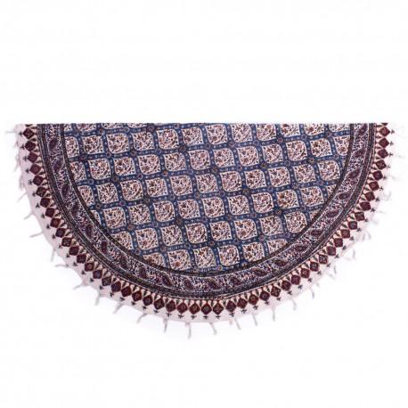 رومیزی گرد پارچه ای رومیزی گرد قلمکار پارچه ای سنتی طرح مسجد شیخ لطف الله