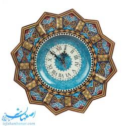 ساعت دیواری چوبی نقاشی تذهیب 36 سانتیمتری
