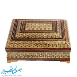 جعبه چوبی خاتم کاری آجیل و خشکبار 18×24 سانتیمتری