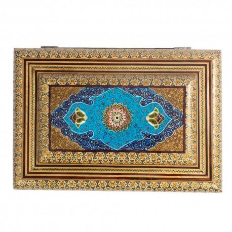 جعبه هدیه چوبی با نقاشی تذهیب