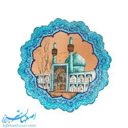 بشقاب میناکاری 20 سانتیمتری نقاشی مسجد امام میدان نقش جهان اصفهان
