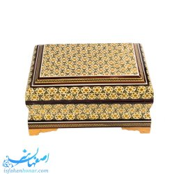 جعبه جواهرات چوبی خاتم ابعاد 13×18 سانتیمتر