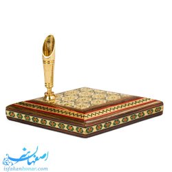 جاقلمی رومیزی چوبی خاتم - صنایع دستی 45