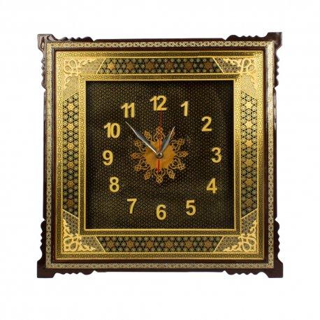Persian wooden handicraft wall clock