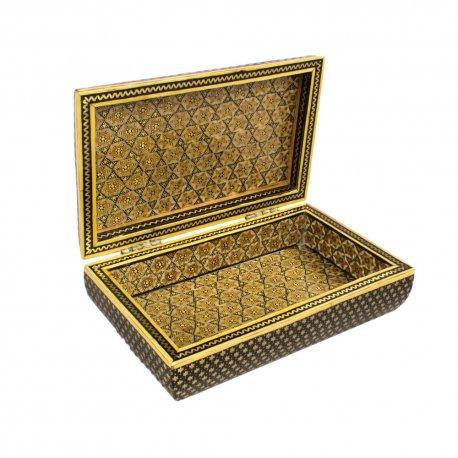 جعبه جواهرات خاتم کاری مشکی