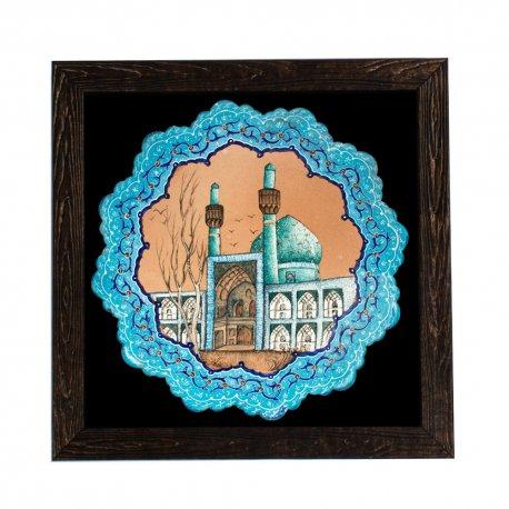 قاب میناکاری نقاشی مسجد امام میدان نقش جهان اصفهان