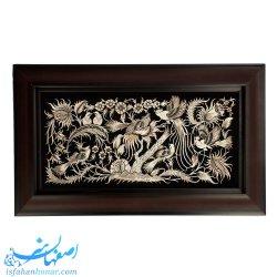 تابلوی دیواری کادویی قلمزنی گل و مرغ