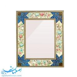قاب آینه رومیزی با نقاشی گل و مرغ