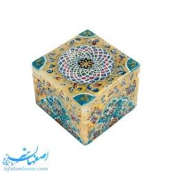 جعبه کوچک جواهرات سنگ مرمر ابعاد 5×5 سانتیمتر