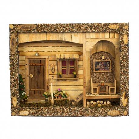 تابلوی چوبی سه بعدی خانه سنتی