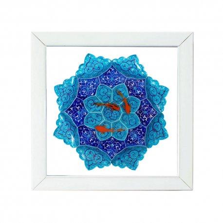 تابلوی نقاشی ماهی قرمز سه بعدی