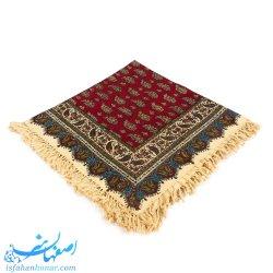 رومیزی سنتی قلمکار یک متری قرمز