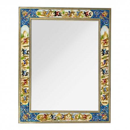 آینه خاتم کاری نقاشی شکار