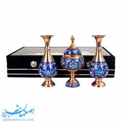 ست نفیس مس و نقاشی پرداز صنایع دستی