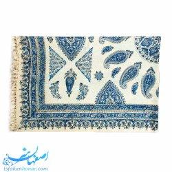 سفره سنتی هشت نفره طرح ترنج آبی ابعاد 240×160 سانتیمتر