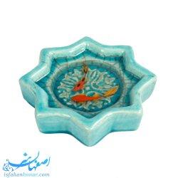 حوضچه فیروزه ای ماهی قرمز نقاشی سه بعدی