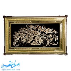 تابلوی قلمزنی دیواری گل و بوته ابعاد 83× 53 سانتیمتر