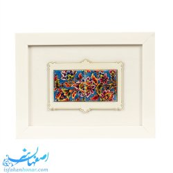 تابلوی رومیزی نقاشی روی کاشی ابعاد 23×18 سانتیمتر
