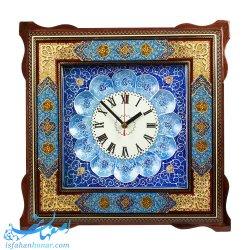 ساعت دیواری خاتم کاری نقاشی تذهیب 40 سانتیمتری