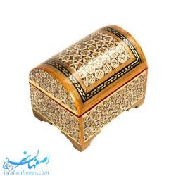 صندوقچه جواهرات خاتم کاری کوچک 8×6 سانتیمتری