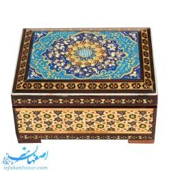 جعبه خاتم کاری نقاشی ابعاد 8×11 سانتیمتر