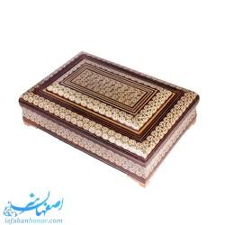 جعبه قرآن خاتم کاری 22×32 سانتیمتری
