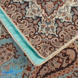 رومیزی ترمه مربعی 100 سانتیمتری طرح زرین