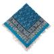 رومیزی قلمکار مربعی 80 سانتیمتری آبی