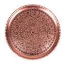 سینی پذیرایی مسی قطر 30 سانتیمتر -هدیه56