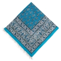 رومیزی قلمکار زمینه آبی 1×1.5 متری ممتاز