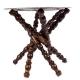 میز سنتی قلمزنی با پایه چوبی