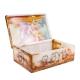 جعبه جواهرات سنگ مرمر 15 سانتیمتری با نقاشی مینیاتور عاشقانه