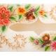 جعبه دستمال کاغذی سنگ مرمر با نقاشی گل و مرغ