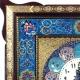ساعت دیواری بزرگ خاتم با نقاشی تذهیب 48 سانتیمتری