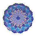 بشقاب مینای نقاشی گل و بوته واسلیمی 30 سانتیمتری
