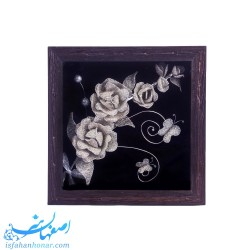 تابلوی مربعی گل سرمه دست ساز 26 سانتیمتری