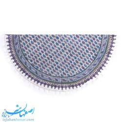 رومیزی پارچه ای دایره ای چاپ قلمکار قطر یک متر