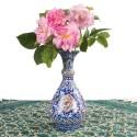 گلدان دوتایی میناکاری نقاشی پرداز ارتفاع 23 سانتیمتر