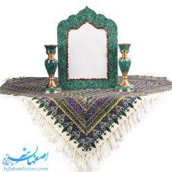 آینه و شمعدان عروس مسی فیروزه کوبی