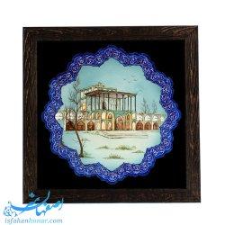 دیوارکوب نقاشی کاخ عالی قاپو اصفهان 25 سانتیمتری