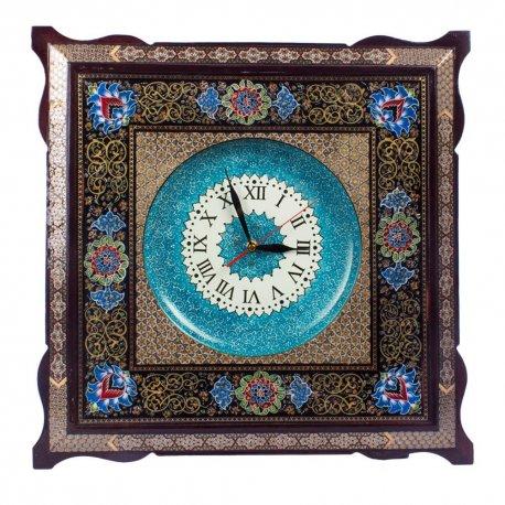 ساعت بزرگ دیواری نقاشی شاه عباسی