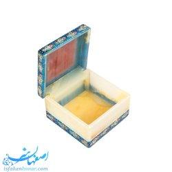 جعبه حلقه نامزدی سنگی با نقاشی تذهیب