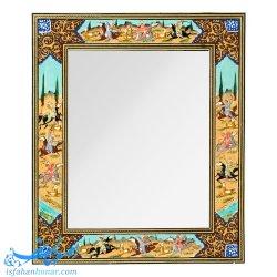 قاب آینه نقاشی شکار ابعاد 40×34 سانتیمتر